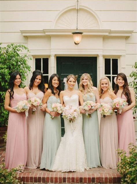 mismatched bridesmaid dresses  wedding