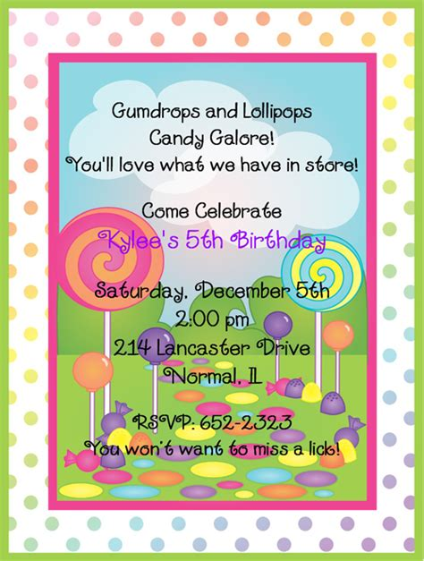 Candyland Birthday Invitations Ideas  Bagvania Free