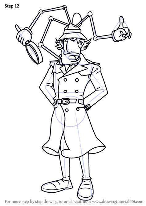 learn   draw inspector gadget  inspector gadget inspector gadget step  step
