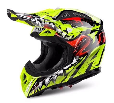 airoh motocross helmet airoh aviator 2 2 grim yellow motocross mx helmet matt