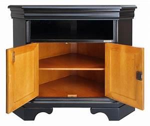 Meuble Angle Tv : meuble tv d 39 angle noir et merisier lamaisonplus ~ Teatrodelosmanantiales.com Idées de Décoration