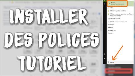 comment installer des polices de caractère sur pc windows