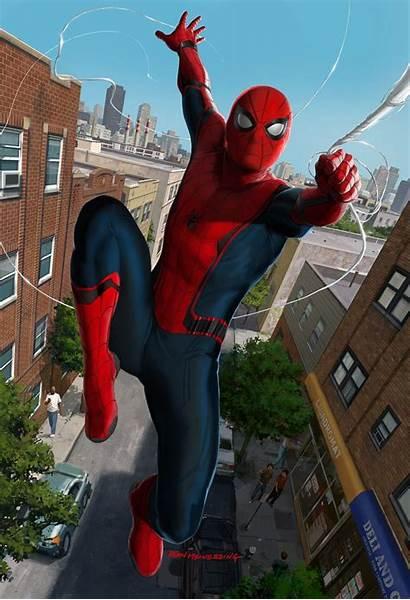 Ryan Meinerding Spider Spiderman Poses Homecoming Concept