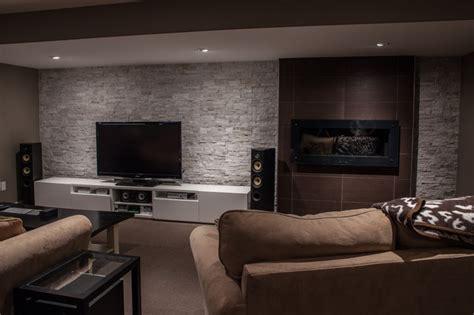 hansen modern basement toronto  allen interiors