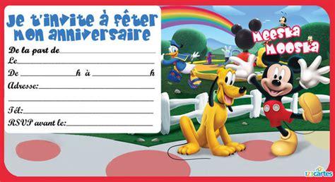 telecharger la maison de mickey invitation anniversaire la maison de mickey 123 cartes