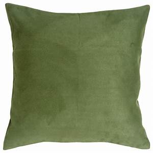 Pillow decor 18 x 18 royal suede forest green throw for Throw pillows green