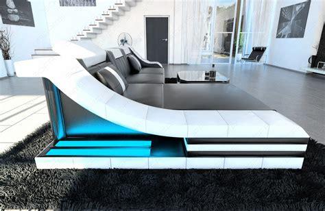 Big Sofa Mit Led Leather Sectional Sofa Turino L Shape With Led Lights