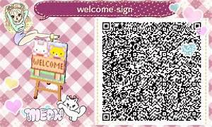 Animal crossing Welcome sign qr code acnl | ACNL ...