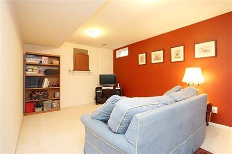 small basement bright orange color homelilys decor