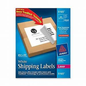 avery 5165 8 1 2 x 11quot white full sheet shipping labels With avery full sheet shipping labels