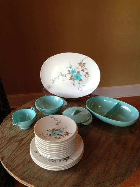 vintage apollo ware melmac alexander barna turquoise blue