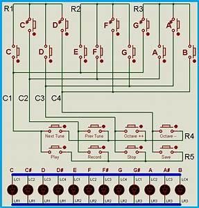 Musical Keyboard Using Atmega8 With Tune Record  Save