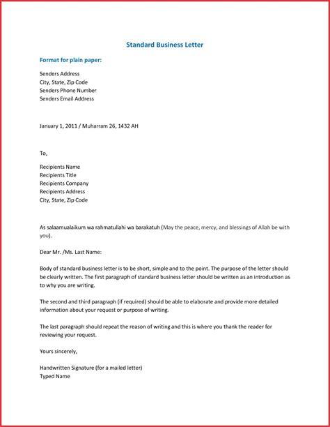 business letter format businessletterformatinword