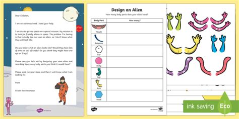 Design An Alien  Recording Using Marks Activity Resource Pack