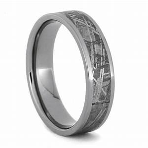 custom made meteorite wedding band titanium ring by With wedding rings made from meteorite