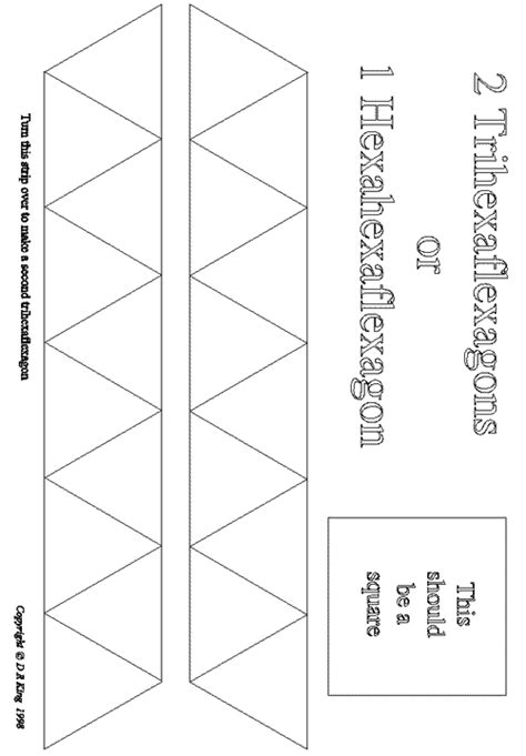 Hexaflexagon Template Flexagon Templates Stem Templates Origami