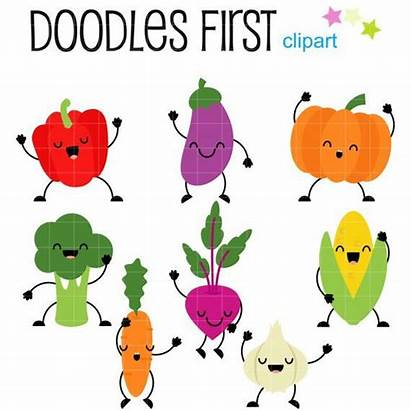 Vegetables Vegetable Dancing Clipart Clip Veggies Crafts