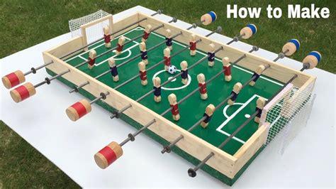 make cardboard foosball table how to make a table football at home foosball mini