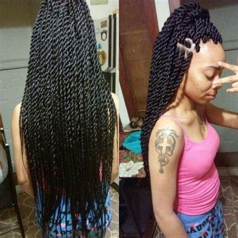 Medium Twist Hairstyles by Medium Senegalese Twists By Me Hair Braided Hairstyles