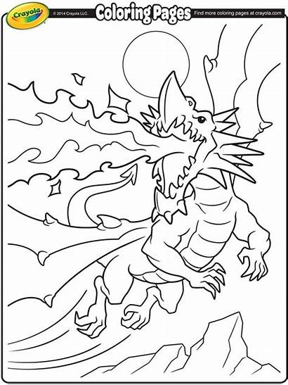 Coloring Dragon Crayola Fire Breathing Pages Dinosaurs