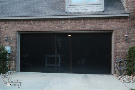 screen garage door check out my garage screen so awesome shanty 2 chic