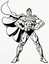 Superman Coloring Pages Man Steel Printable Sheets Colouring Print Super Hero sketch template