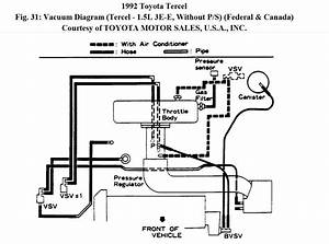 Manifold Intake Diagram For Tercel 1992 E3