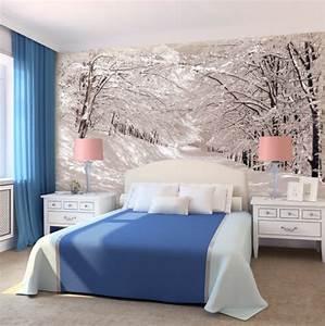 decoration chambre en papier peint visuel 6 With deco papier peint chambre
