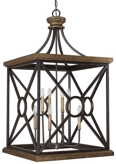 capital lighting 4503sy landon transitional foyer light cp