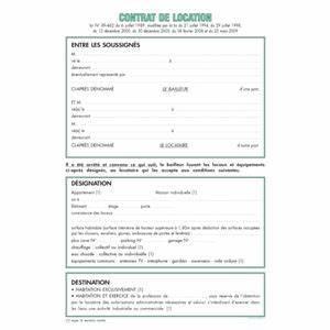 Feuille De Contrat Location Pour Locaux Vacants Non Meuble