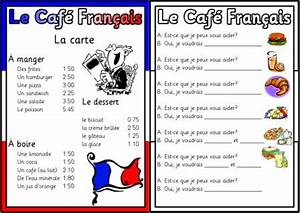 free french teaching resources from instant display With french cafe menu template