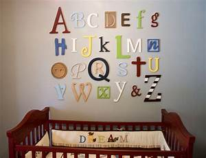 Wooden alphabet letters set painted wooden letters wall for Alphabet letters decorate walls