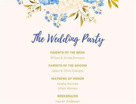 design beautiful wedding program    canva