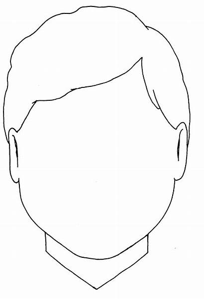Coloring Blank Boy Head Pages