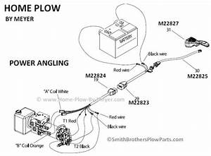 truck side harness for power angling home plow by meyer With wiring diagram also western snow plow mounts ford besides western plow