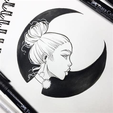 black moon yesterdays inktober sketch