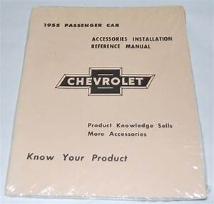 55 Chevy Passenger Car Shop Repair Manual Guide Book 1955