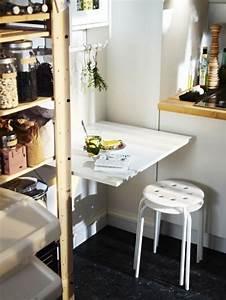 Tapeten Für Kleine Räume : kleine r ume schmaler wandklapptisch bild 13 sch ner wohnen ~ Indierocktalk.com Haus und Dekorationen