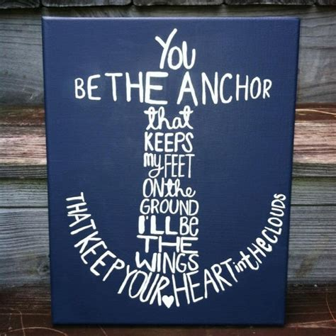 Anchor Canvas Quote Painting