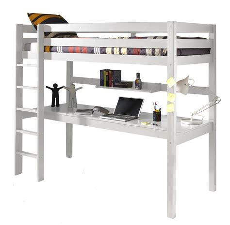 lit mezzanine 2 places bureau lit mezzanine 1 place avec bureau clara en pin massif so