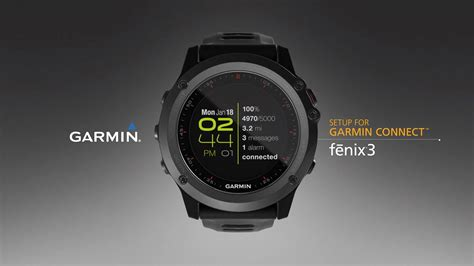 fēnix 3: Syncing Your Smartphone with Garmin Connect - YouTube