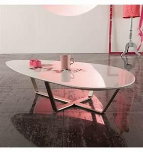 Table Basse Ovale Blanche : table basse ovale salon table basse design ~ Teatrodelosmanantiales.com Idées de Décoration