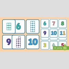 * New * Number Shapes And Numerals Matching Cards Numbers