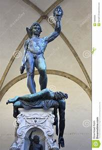 Statue Perseus Slaying Medusa In Firenze Royalty Free ...