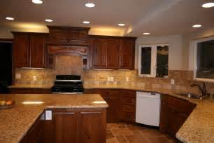 kitchen backsplash cherry cabinets cherry cabinets with granite countertops home d tile backsplash house update