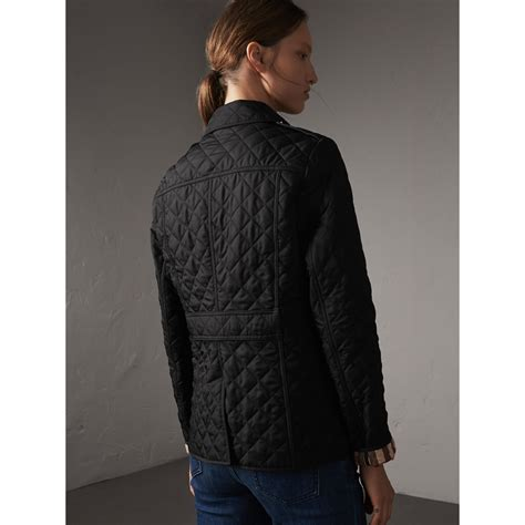 burberry quilted jacket womens quilted jacket in black burberry united