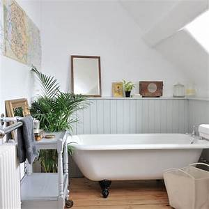 Tongue and groove panelled bathroom housetohomecouk for Tongue and groove wall panelling for bathrooms