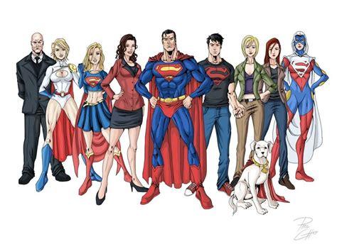 the superman family and luthor by phil cho comic