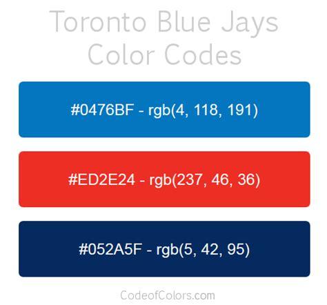 toronto blue jays colors hex  rgb color codes