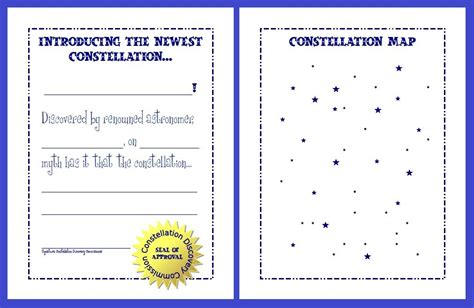 constellation chart worksheet summer unit copying constellations